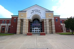 Magnolia High School (Texas) - Image: The East Magnolia High School on the good side of the tracks