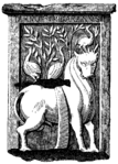 The Holy Ox. - Celtic Monument found in Paris (19th c. woodcut).png