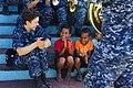 The Pacific Fleet Band entertains children in Savusavu, Fiji, during Pacific Partnership 2015 150612-N-HE318-194.jpg