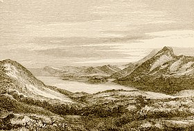 Gravure du golfe Pagasétique et du mont Othrys par Christopher Wordsworth en 1882.