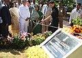 The President, Smt. Pratibha Devisingh Patil inaugurating the Herbal Garden at Rashtrapati Nilayam, Bollaram, in Hyderabad on December 25, 2010.jpg