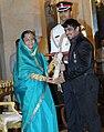 The President, Smt. Pratibha Devisingh Patil presenting the Padma Shri award to Shri Sushil Kumar, at an Investiture Ceremony, at Rashtrapati Bhavan, in New Delhi on March 24, 2011.jpg