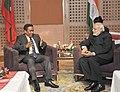 The Prime Minister, Shri Narendra Modi meeting the President of Maldives, Mr. Abdulla Yameen, at the 18th SAARC Summit, in Kathmandu, Nepal on November 26, 2014 (1).jpg
