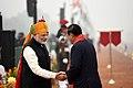 The Prime Minister, Shri Narendra Modi receiving the Prime Minister of the Kingdom of Cambodia, Mr. Samdech Akka Moha Sena Padei Techo Hun Sen, at Rajpath, on the occasion of the 69th Republic Day Parade 2018, in New Delhi.jpg