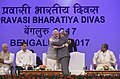 The Prime Minister, Shri Narendra Modi welcoming the Prime Minister of Portuguese Republic, Mr. Antonio Costa, at the inauguration of the Pravasi Bharatiya Divas (PBD-2017) celebrations, in Bengaluru, Karnataka (1).jpg