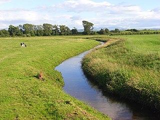 River Waver river in Cumbria, United Kingdom