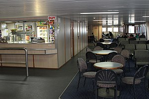 Pre refit interior view of the ferry