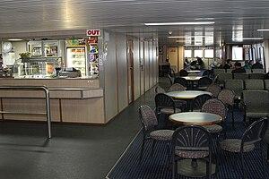 MV Queenscliff (1992) - Pre refit interior view of the ferry