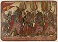 The Simian Generals in Procession, Scene from the Story of the Burning of Lanka, Folio from a Ramayana (Adventures of Rama) LACMA M.85.297.4.jpg