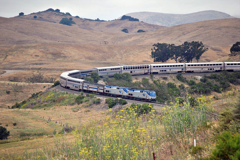 Datei:The Southbound Coast Starlight at horseshoe curve.jpg