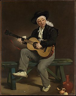 <i>The Spanish Singer</i> painting by Édouard Manet
