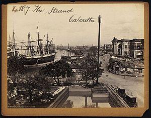 Strand Road, Kolkata - The Strand in the mid 19th century.