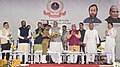 The Union Home Minister, Shri Rajnath Singh being greeted at the launch of the Student Police Cadet (SPC) programme for nationwide implementation, in Gurugram, Haryana.JPG