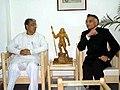 The Union Home Minister, Shri Shivraj Patil with the Chief Minister of Tripura, Shri Manik Sarkar in Agartala on January 30, 2005.jpg