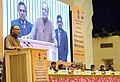 The Union Minister for Finance, Corporate Affairs and Information & Broadcasting, Shri Arun Jaitley delivering the keynote address at the MGNREGA SAMMELAN-2016, in New Delhi. The Union Minister for Rural Development.jpg