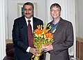 The Union Minister for Health and Family Welfare, Dr. Anbumani Ramadoss meeting the Co-Chairperson of Gates Foundation, Mr. Bill Gates, in New Delhi on November 04, 2008.jpg