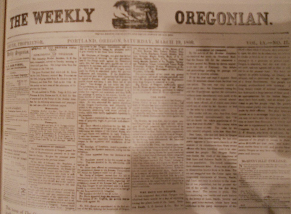 The Weekly Oregonian 1859