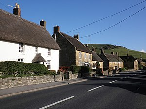 Chideock - Image: The main street, Chideock geograph.org.uk 1587609