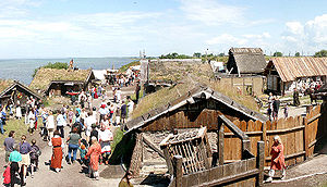 Foteviken Museum - Recreated Viking Age settlement at Foteviken Museum