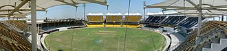 Chennai Super Kings - Image: The new and old stands at the M. A. Chidambaram Stadium