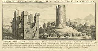 The north view of Brwynllys-Castle, in the county of Brecknock