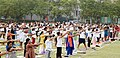 The participants in the mass performance of Common Yoga Protocol, on the occasion of the 4th International Day of Yoga -2018, at Dwarka, in New Delhi on June 21, 2018 (2).JPG