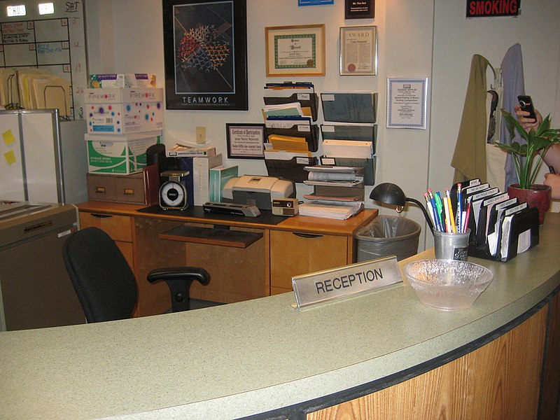 File:The reception desk (3818389638).jpg
