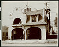 The two-story Mission-style Fire Station Eleven at 1819 West Seventh Street, ca.1910 (CHS-2469).jpg