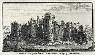 The West View Of Grismond Castle, In The County Of Monmouth