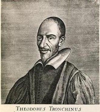 Théodore Tronchin (theologian) - Théodore Tronchin, 1657 engraving.
