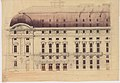 Third Salle Favart, elevation of the lateral facade, drawing by Louis Bernier – Gallica 2017.jpg