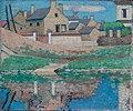 Thomas William Marshall - Maison et reflets sur l'eau en Île-de-France (1905).jpg
