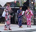 Threewomenonstageinyukata-Chiba-Japan-sep7-2014.jpg