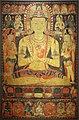Tibet centrale, buddha tantrico vairochana, acquarello, 1150-1200 ca.jpg