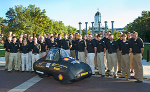 Mizzou Hydrogen Car Team - Tigergen II team photo