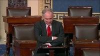 File:Tim Kaine Taking to the Senate floor to highlight the pain President Trump's shutdown –....webm