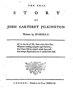 John Carteret Pilkington - Title page of 1760 Memoirs