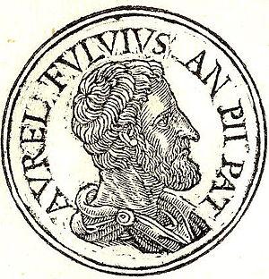Titus Aurelius Fulvus - Titus Aurelius Fulvus from Promptuarii Iconum Insigniorum