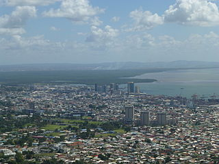 Downtown Port of Spain District in Trinidad and Tobago