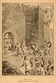Tomada de Lisboa, Martim Moniz atravessando-se na porta do castelo - História de Portugal, popular e ilustrada.png