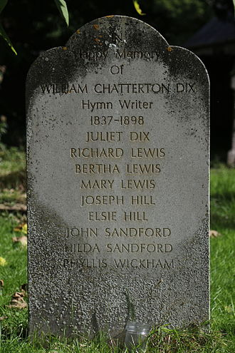 William Chatterton Dix - Tomb in the churchyard of St Andrew's Church, Cheddar
