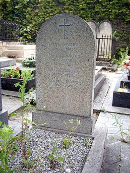Tombe Gérard Bauër, Cimetière de Charonne, Paris.jpg
