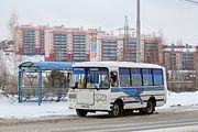 ПАЗ-32054 после рестайлинга облицовки в 2014 году в Томске.