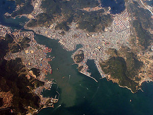 Tongyeong - Aerial photo of Tongyeong.