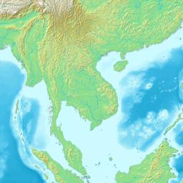 Topografa mapo de Hindoĉinio