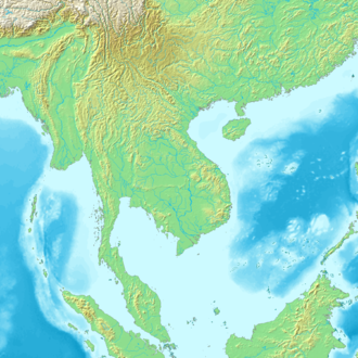 Mainland Southeast Asia - Image: Topographic 30deg N0E90