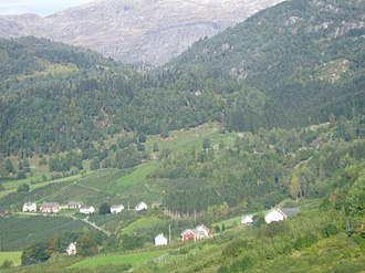 Ulvik - View of Torblå and Lekve