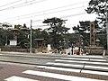 Torii of Sumiyoshi Grand Shrine and Hankai Railway Hankai Line.jpg