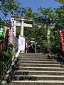 Toriis of Fudo Shrine (No.3 of Okunomiya 8 Shrines) in Miyajidake Shrine.JPG