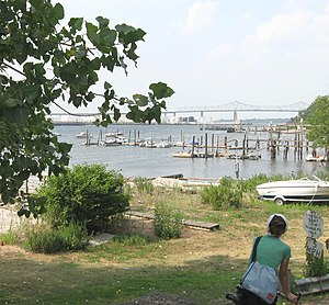 Tottenville, Staten Island - A view of Arthur Kill, the waterway between Staten Island and the New Jersey mainland